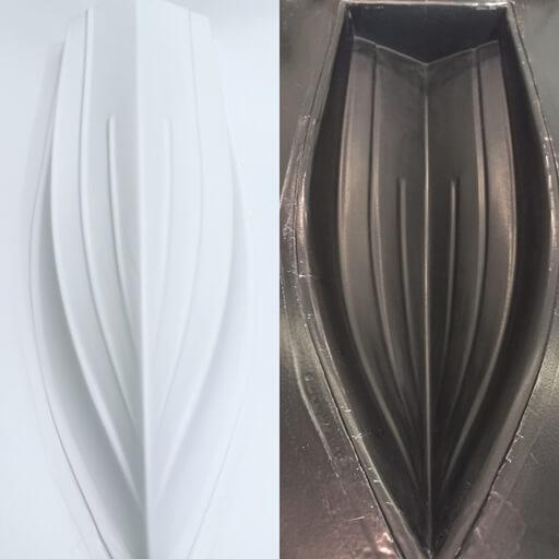 modelo y molde para infusion de resina